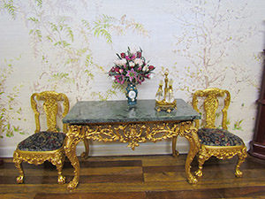 Dollhouse Gilt Chairs