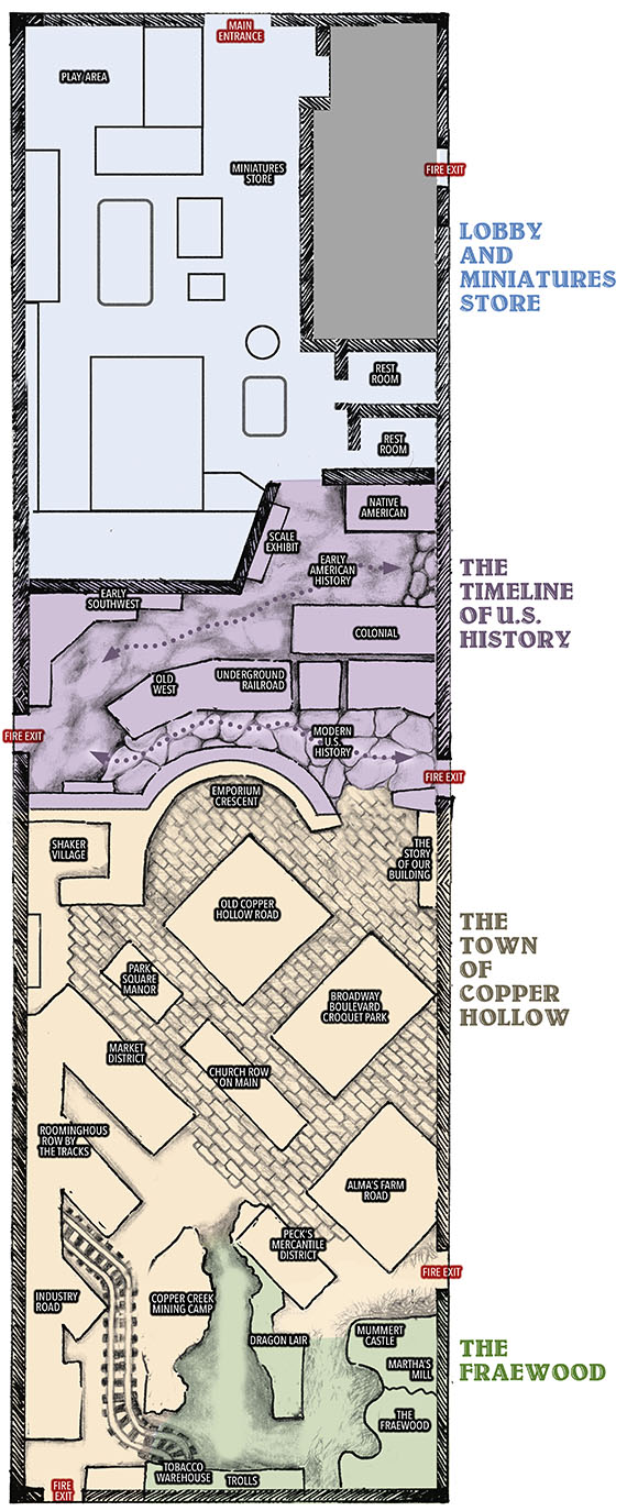 great american dollhouse museum exhibit map